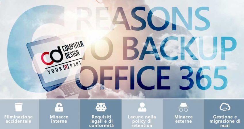 Backup per Office 365? Scopri 6 buoni motivi per eseguirlo.